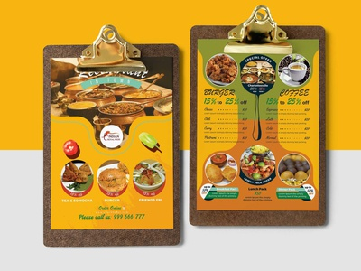 Indian Special Food Menu Design Template illustration premium download psd