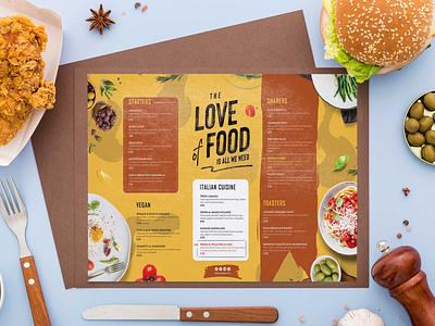 Love Food Menu Design Template premium download psd illustration design