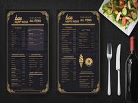 Prime Golden Restaurant Menu Psd Template