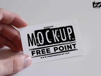 Free Psd Hand Helded Business Card Mockup