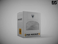 Free Diecut PSD Label Design Mockup