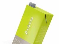 Free Green Real Juice Carton Packet Mockup
