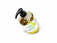Free Hand Wash Soap Dispenser Label Mockup