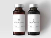 Free Syrup Bottle Label Mockup