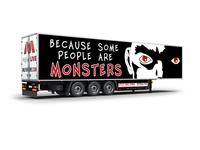 Free Truck Branding Banner Psd Mockup