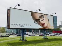 Free New Sunglasses Billboard Banner Mockup