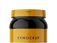 Premium Protein Jar Label Mockup
