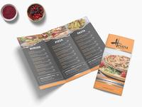 Creative Pizza Cafe Tri Fold Menu Design Template