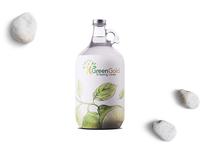 New Style Glass 20 L Water Bottle Label Mockup
