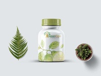 Glass Pill Bottle Label Mockup