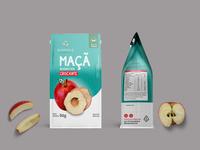 Apple Powder Pouch Label Mockup