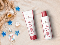 Beach Sunblock Cream Oil Mockup
