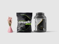 New Modern Protein Packaging Mockup