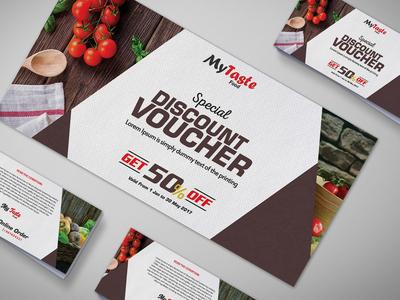Japanese Food Gift Voucher Design Template