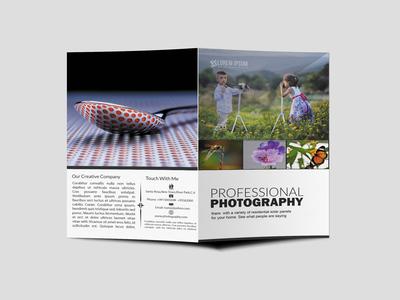 Photographer Agency Bi Fold Brochure Design Template