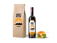 Wine Paper Bag Packaging Mockup