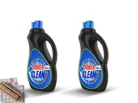 Big Detergent Bottle Mockup