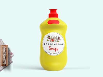 Dish Soap Bottle Label Mockup