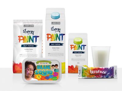 Free Spray Paint Branding Packaging Mockup