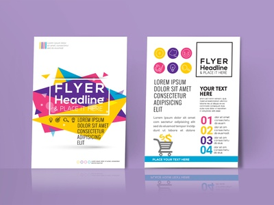 Premium Flyer Design Presentation Mockup