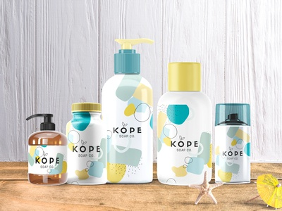 Body Lotion Bottle Label Mockup