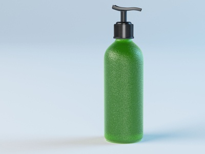 Frosted Glass Bottle Model