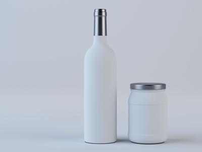 Grape Wine Bottle Model