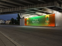Free Roadside Billboard Mockup
