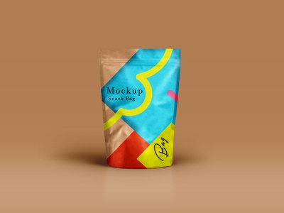 Free Colorful Page Bag Label Mockup