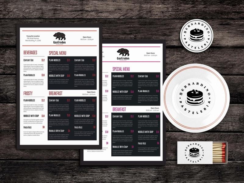 Dine Fine Food Menu Template design