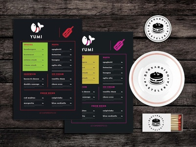 Drink And Dive Menu Template
