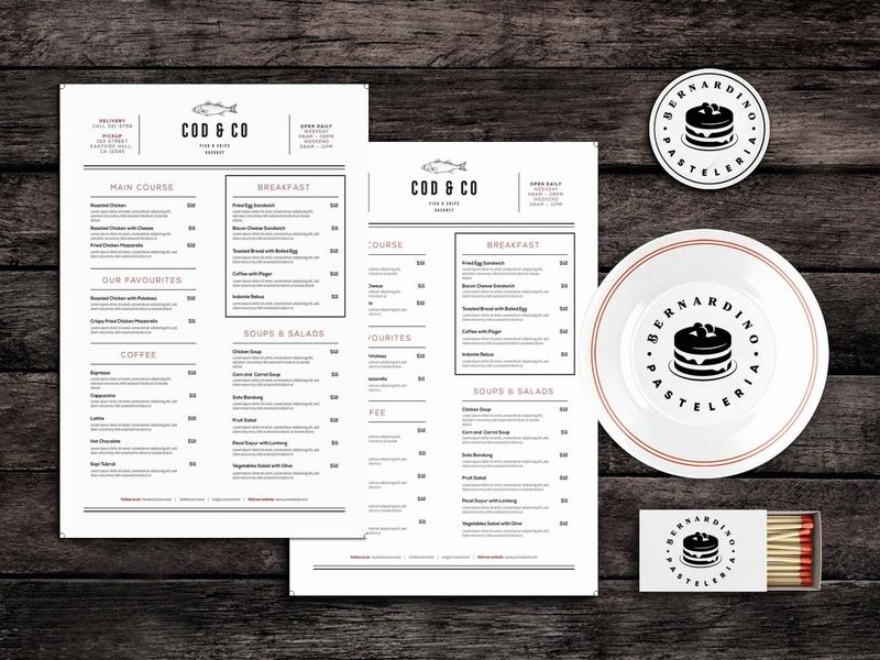 Foodies Unites Food Menu Template design