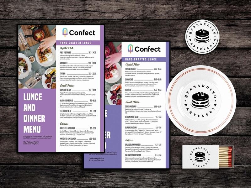 Foodstuff Menu Template PSD design