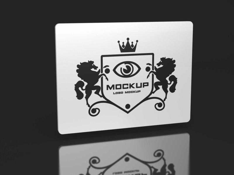 Free Hi Tech Fluorescent Logo Mockup mockups psd download mock-up mockup mock-ups download download mockup