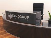 Free Modern Office Branding Mockup