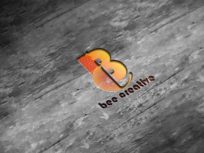 Bee Creative Logo Mockup illustration design branding download mock-ups mockup psd download mock-up motion graphics graphic design 3d animation ui download mockup mockups psd mockup logo creative bee