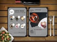 Premium Coffee House Psd Menu Template