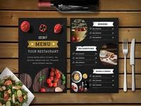 Premium Hotel Psd Dinner Menu Template