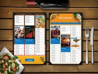 Premium Restaurant Food Snacksmenu Template