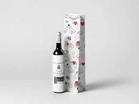 Bottle Wine Bag Mockup