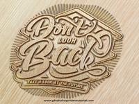 Free Wood Engrave Logo Mockup