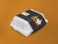 Food Packaging Box Label Mockup