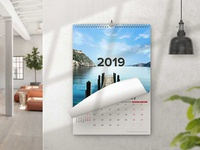 Home Wall Calendar Design Mockup