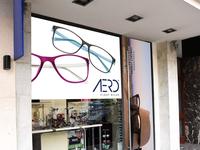 Free Eyeglasses Storefront Psd Mockup