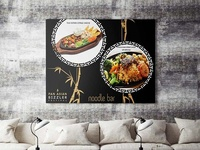 Free Download Cafe Wall Poser Mockup