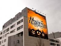 Free Psd Halloween Party Billboard Mockup