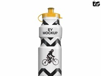 Free Cycle Sipper Bottle Psd Label Mockup