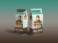 New Coffee Pakaging Pouch Label Mockup