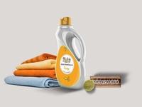 Premium Clothes Softening Liquid Bottle Mockup