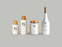 Premium Pure Bottles Label Mockup